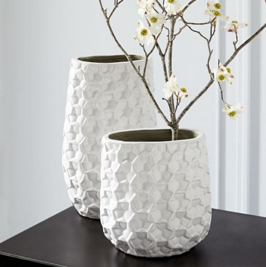 3d Eyelet Vases from West Elm