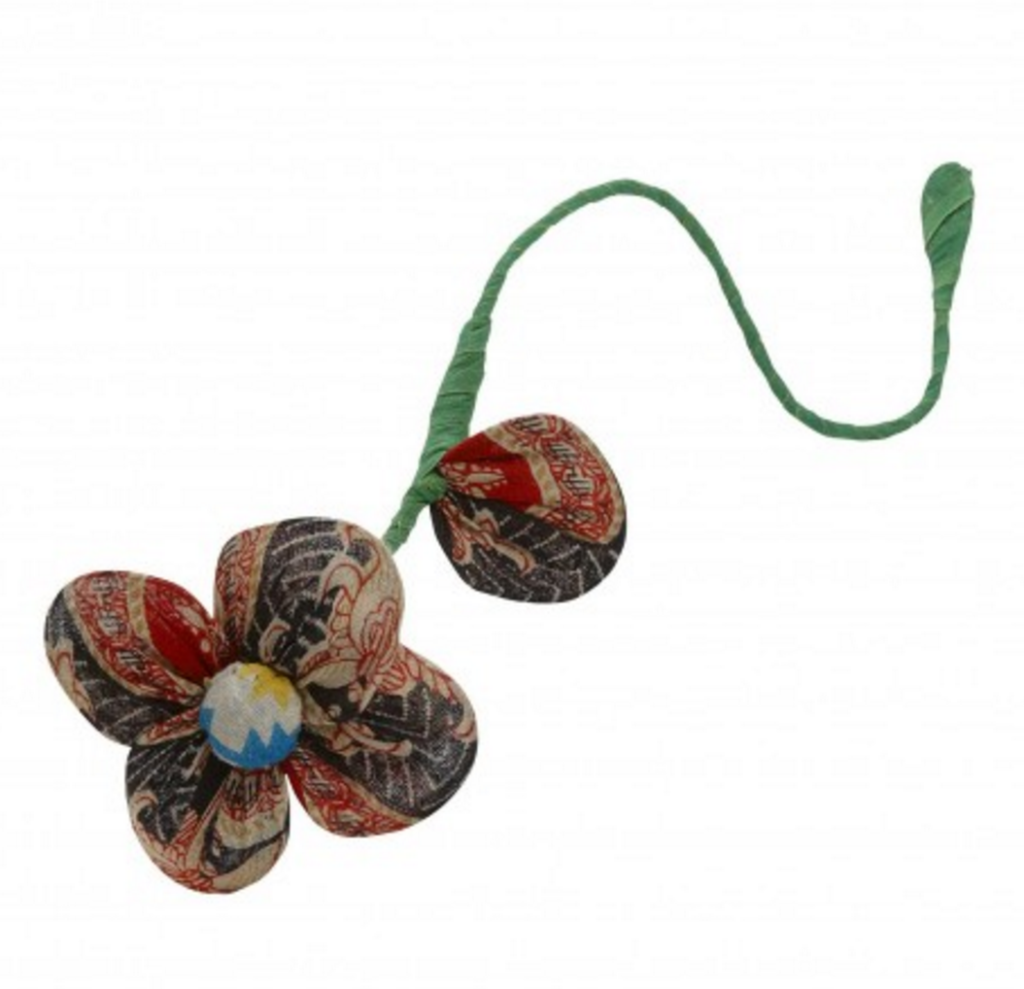 Recycled Sari Flower
