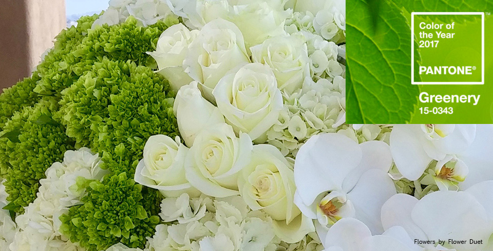 Greenery flower ideas by Flower Duet.