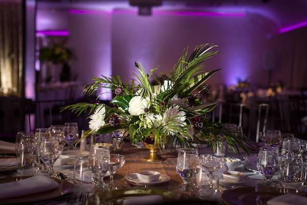 Tropical Centerpiece. All photos by The Holding Company. All flowers by Flower Duet.