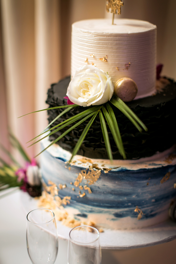 A taste of tropical and traditional for the cake. All photos by The Holding Company. All flowers by Flower Duet.