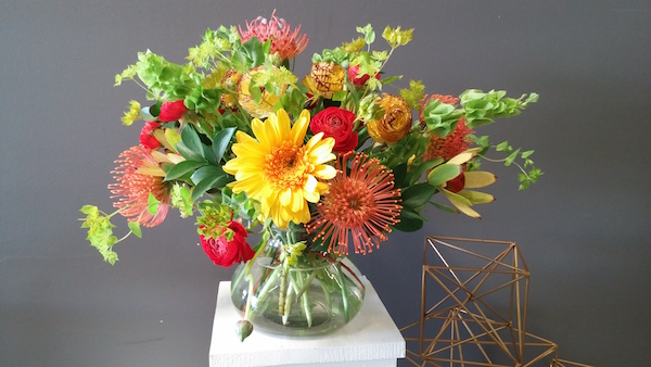 Ranunculus field to vase class.Flowers by Flower Duet. Photo by Kit Wertz