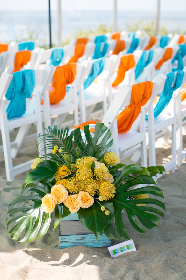 Yellow Tropical Floral Designs
