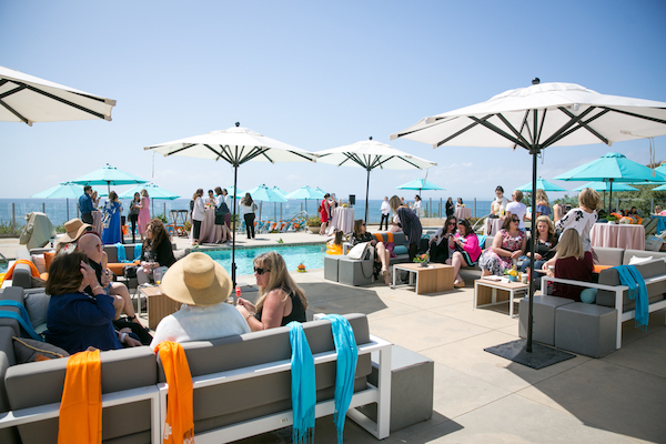 Guests network during brunch hour at #cabanaboss