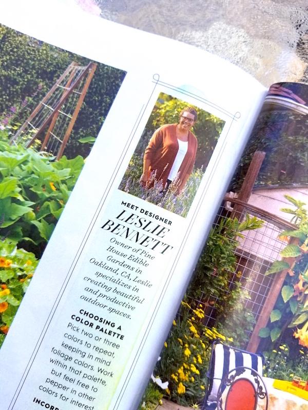 Leslie Bennett featured in July 2017 BH&G magazine.
