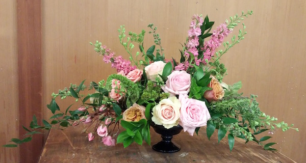 Adult flower arranging classes Los Angeles by Flower Duet Roses