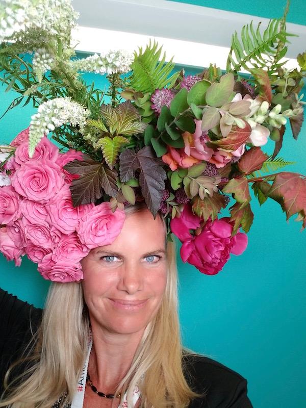 #flowersonmyhead Kit Wertz Flower Duet. Flowers by Mud Baron