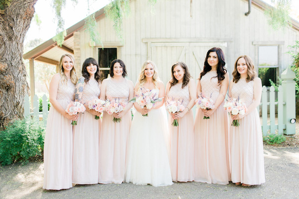 Flower Duet Pink Bridesmaids