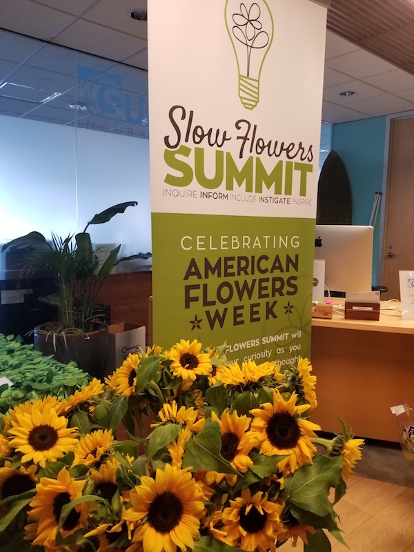 Sunflowers for the Slow Flowers Summit