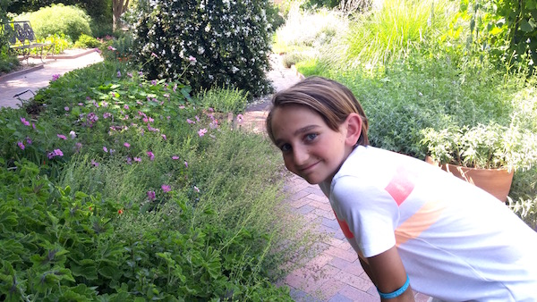 Will in the Huntington Herb Garden.