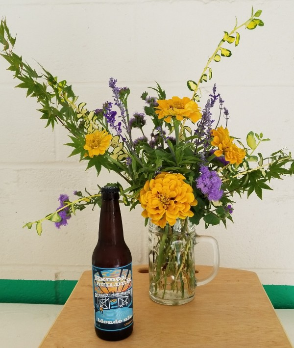 Beer Glass Flower Vases