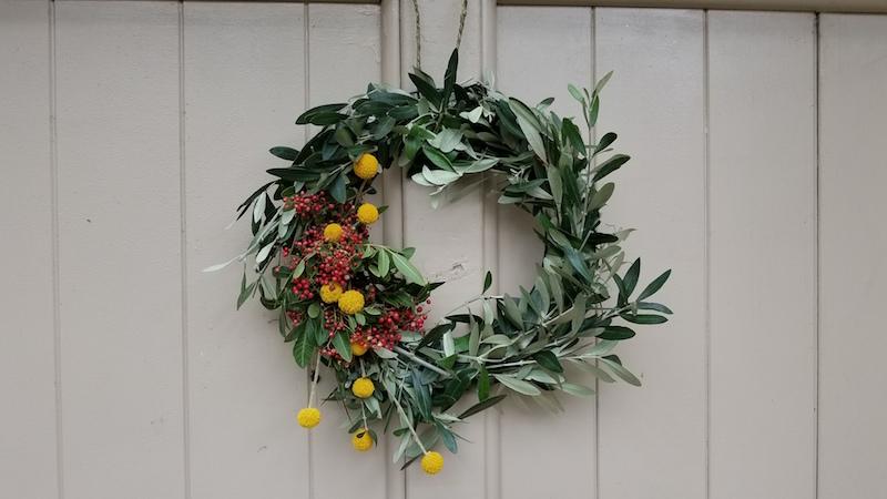 Olive branch fresh wreath