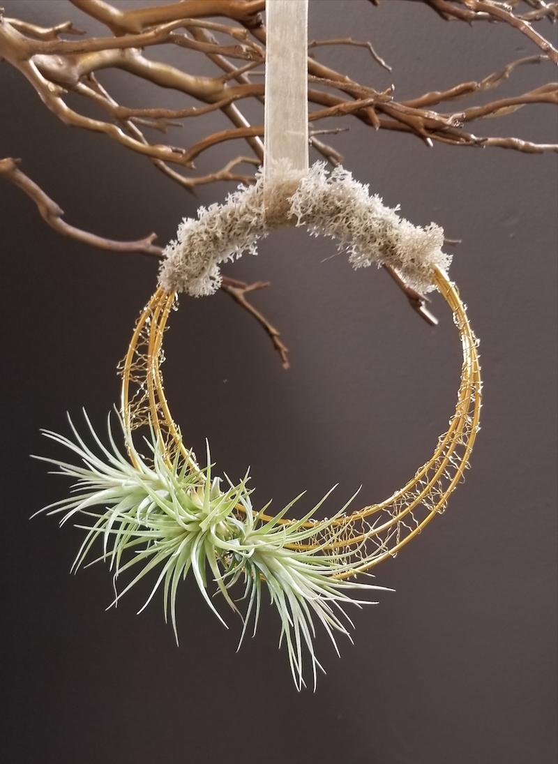 Flower Duet Airplant Wreath