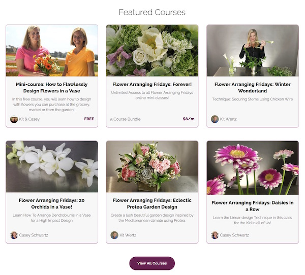 Online Flower Arranging Classes