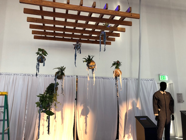 Kokedama installation half way by Flower Duet