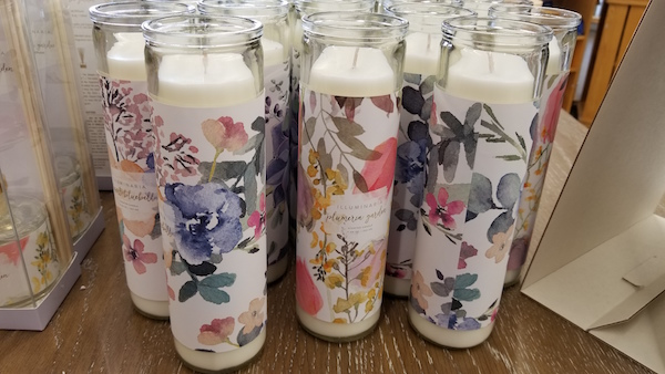 Floral candles at Cost Plus World Market - Photo by Kit Wertz.