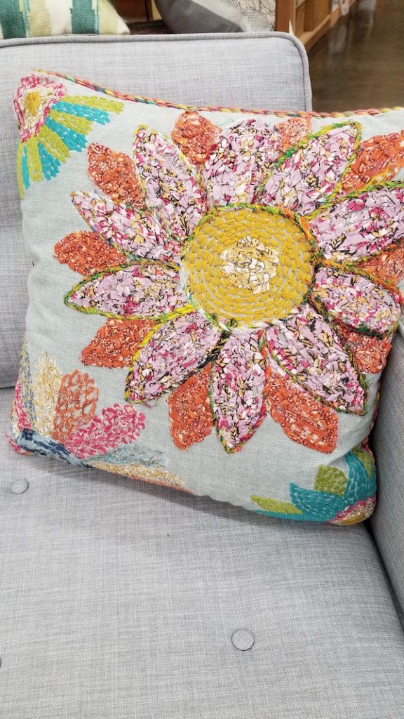 Floral pillow at Cost Plus World Market - Photo by Kit Wertz.