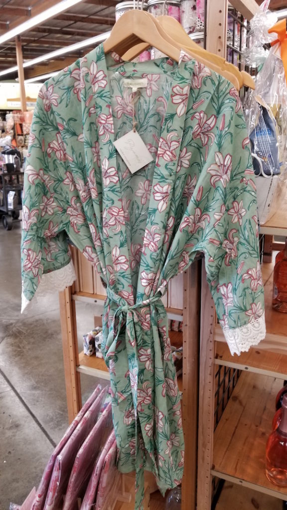 Floral robe at Cost Plus World Market - Photo by Kit Wertz.
