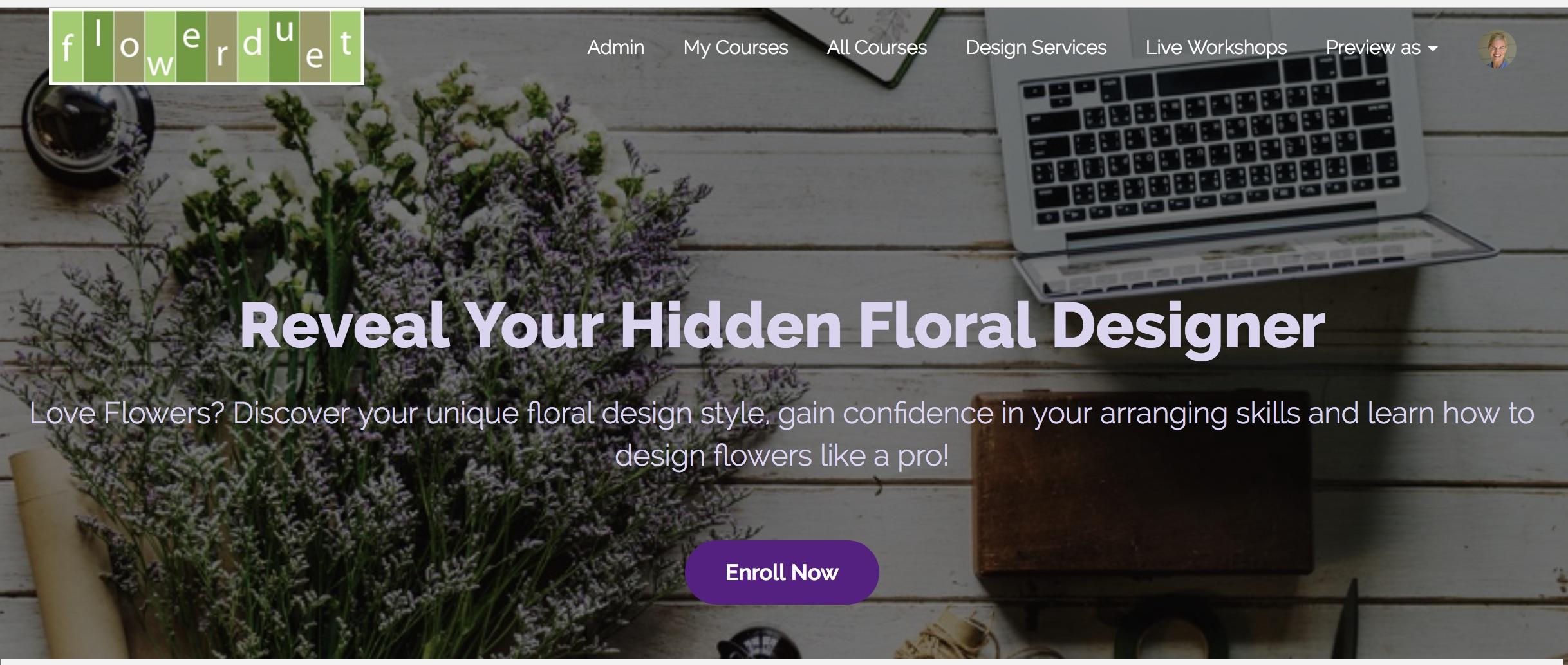 Flower Duet Online Flower Arranging Classes