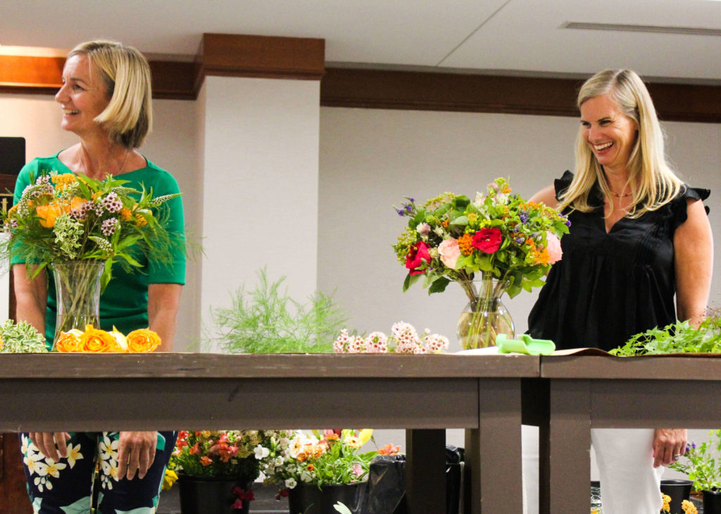 Casey and Kit during our demonstration at the 2nd Annual Slow Flowers Summit in Washington, D.C.