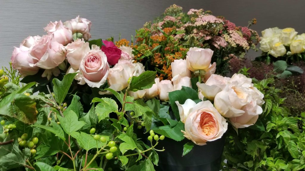 Fabulous viburnum, garden roses and yarrow were in abundance at the Summit!