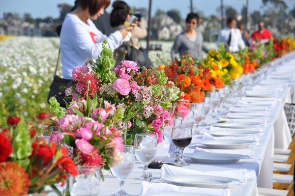 Flower Duet Design for American Grown Flowers Field to Vase Dinner 2016