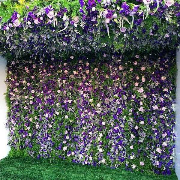 Flower Wall Install by Flower Duet