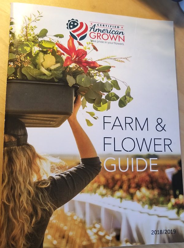 The cover of this year's American Grown Farm & Flower Guide.