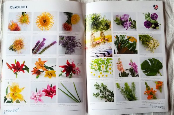 Botanical index page example on the American Grown Farm & Flower Guide