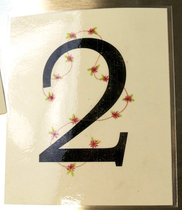 Number 2 card detail