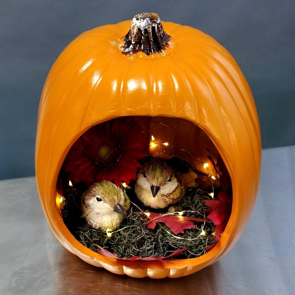 Birdie Fall Diorama Pumpkin by Flower Duet