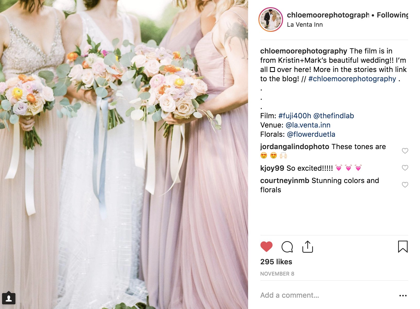 Pastels are perfect with these florals and bridesmaids.