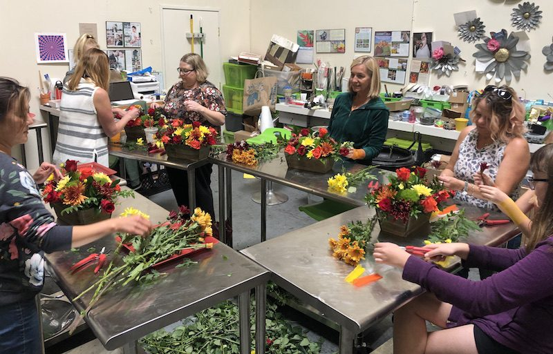 Floral Design for Charity by Flower Duet.