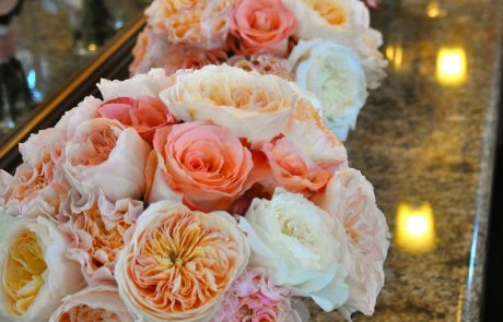 Coral Bridal Bouquet by Flower Duet