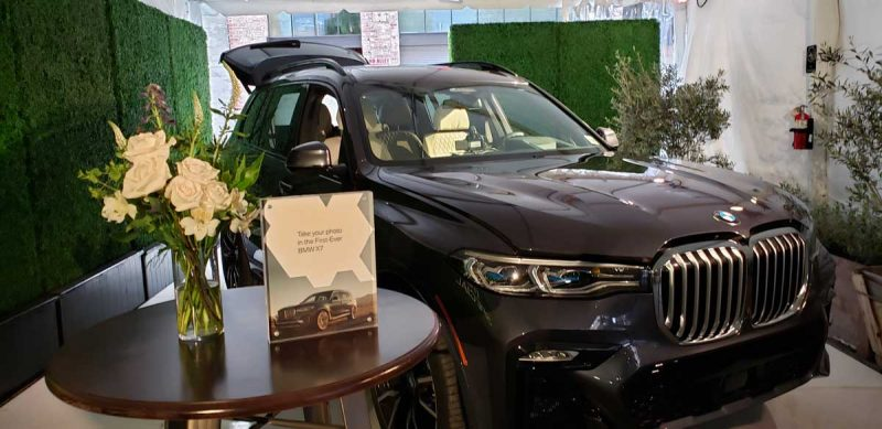 BMW X7 at the podcast launch party