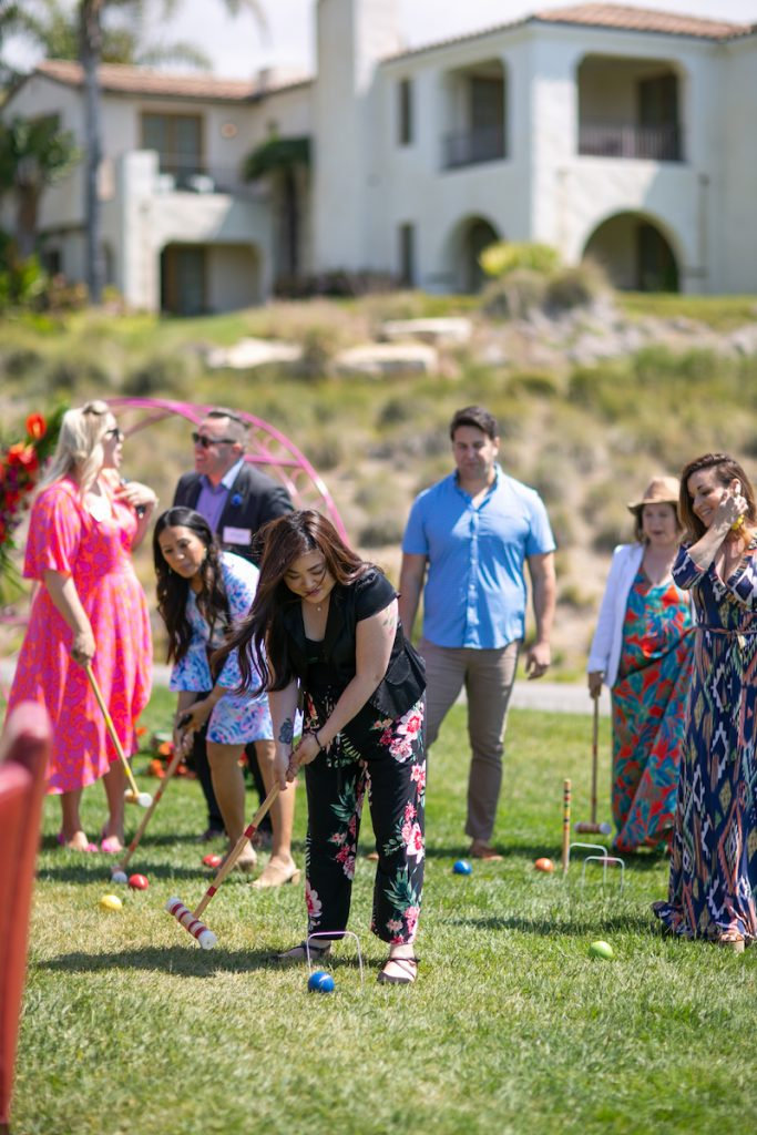 Croquet during Etiquette To A Tee