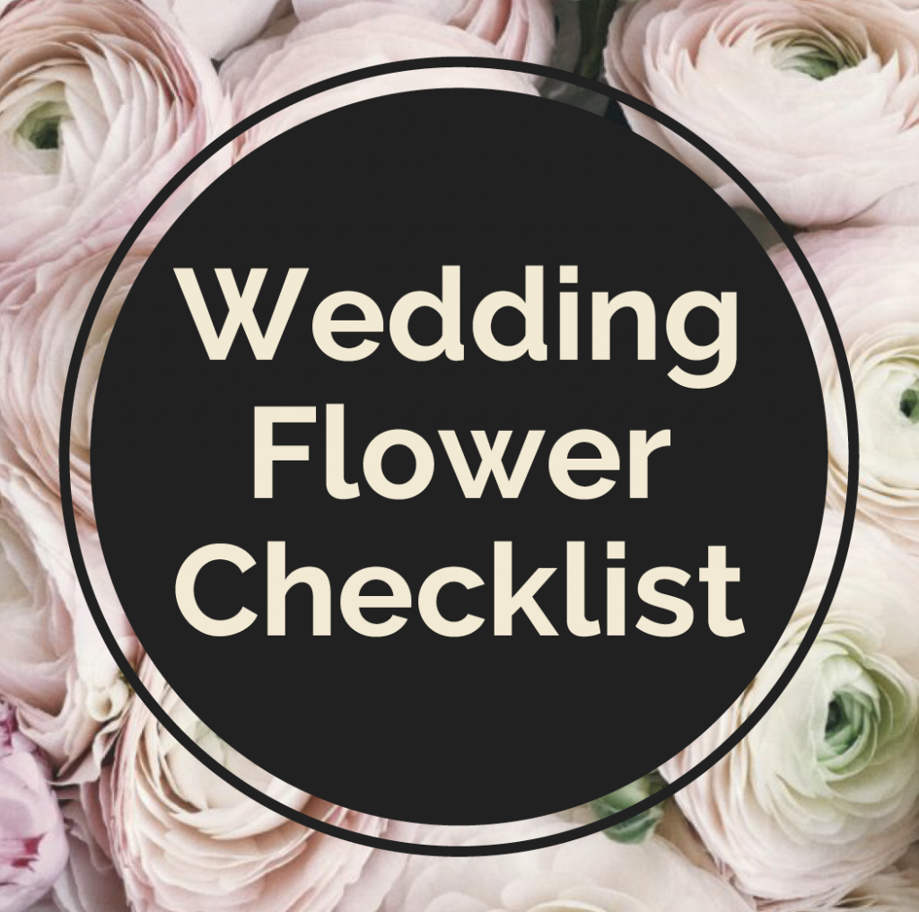 Wedding Flower Checklist for a FREE quote