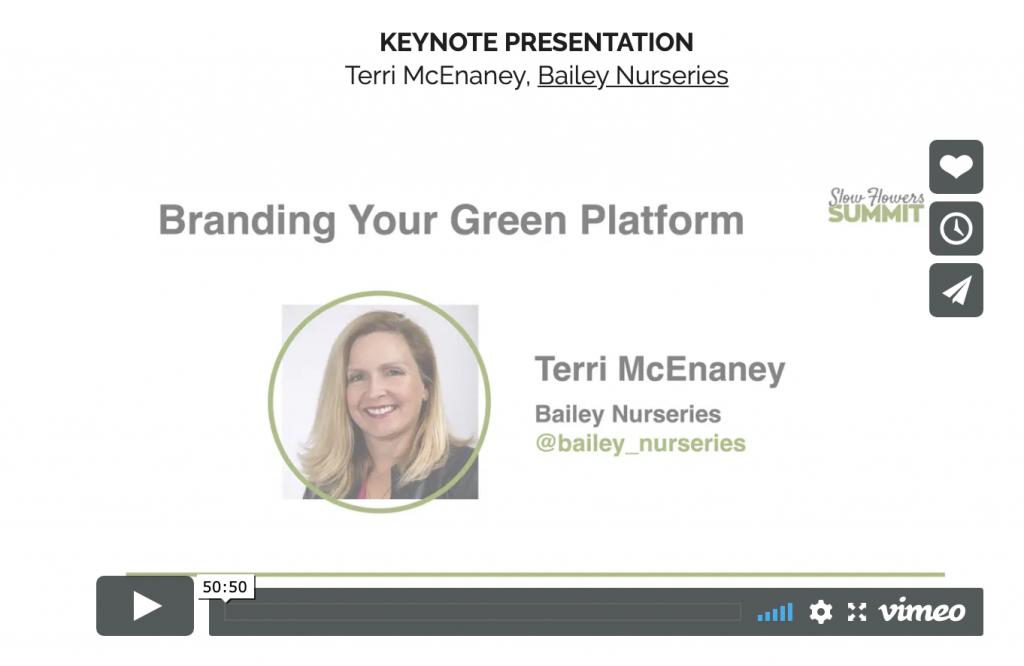 2019 Slow Flowers Summit Keynote Speaker Video