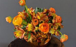 Orange flower centerpiece