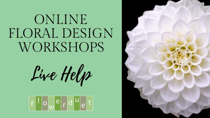 Live Online Flower Arranging Classes