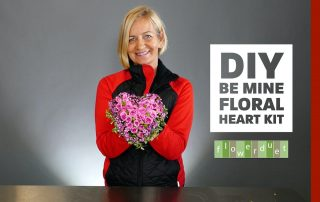Caseys DIY be mine floral heart