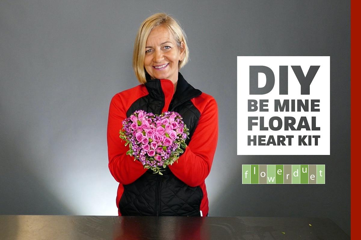 Caseys DIY be mine floral heart
