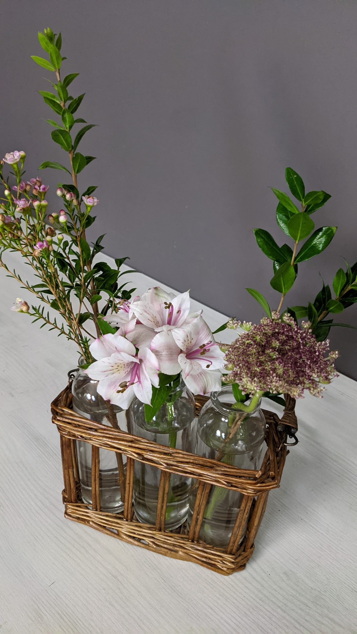 Soft Neutral Flowers in Pink