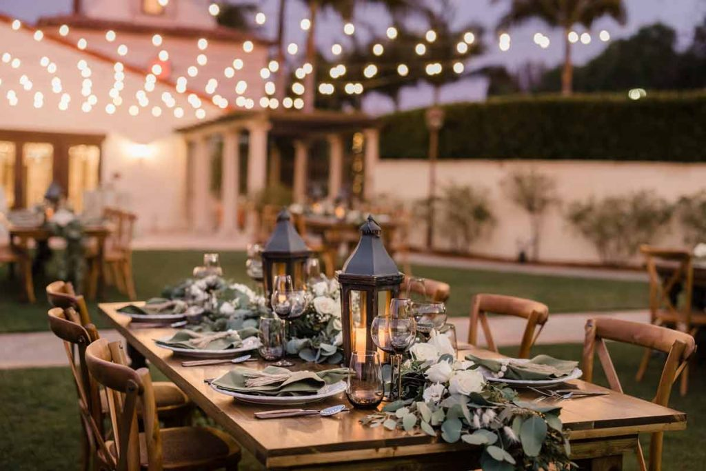 Night time wedding outdoor venue at PV Golf Course
