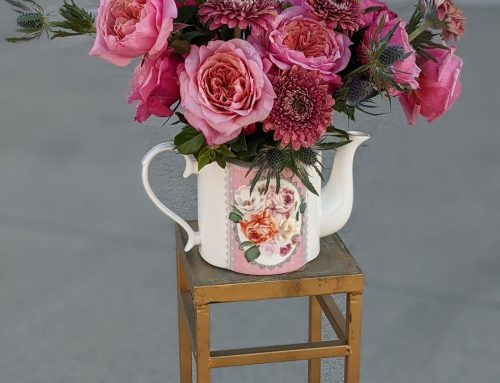 FREE Online Course for April: Garden Rose Teapot