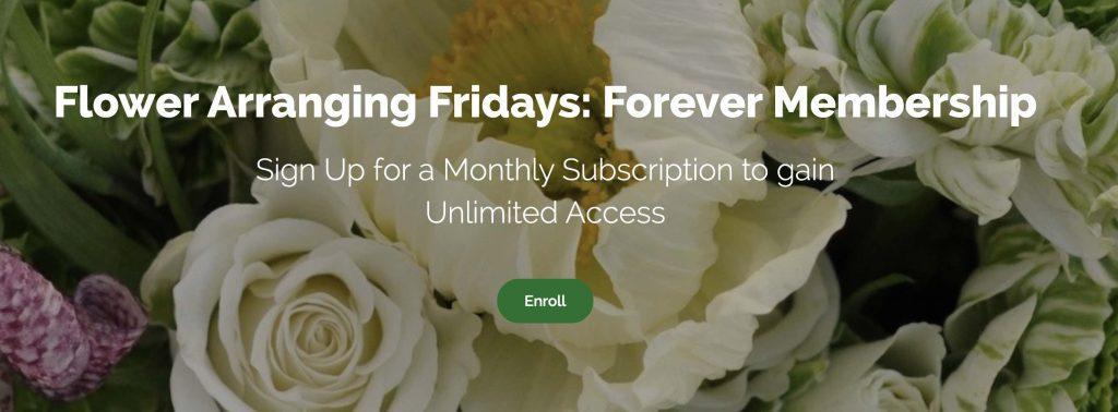 Flower Arranging Fridays header