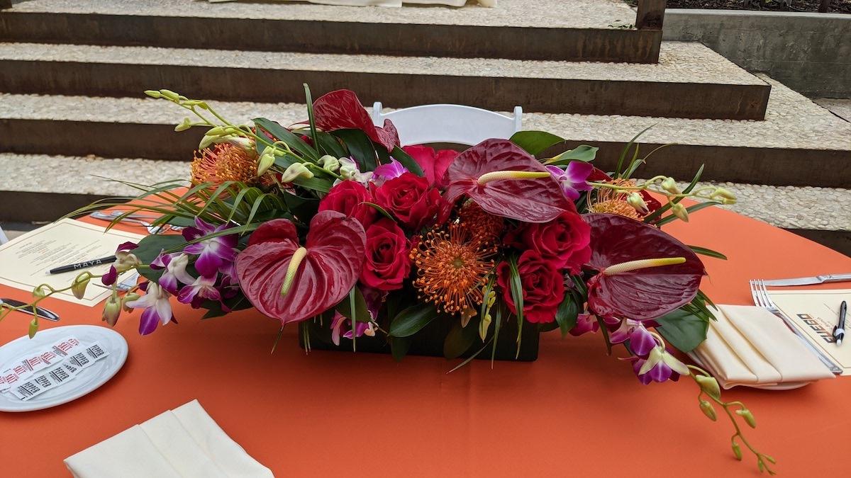 Flower Duet Tropical Centerpiece