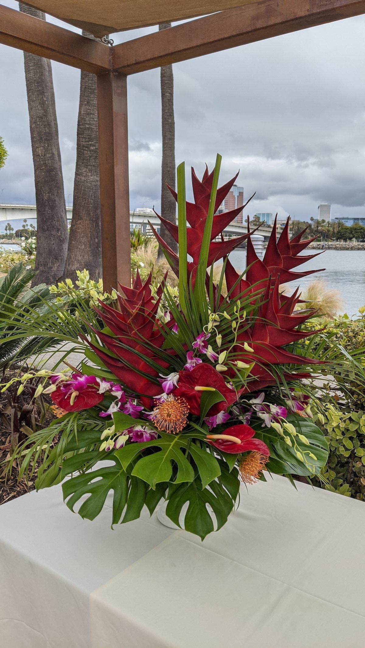 Tall Tropical Design by Flower Duet